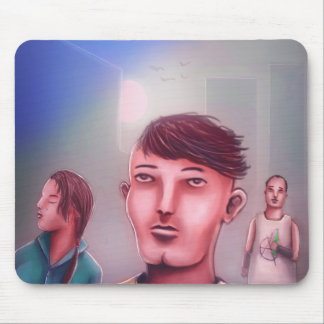 Just three friends chilling in the city mouse pad