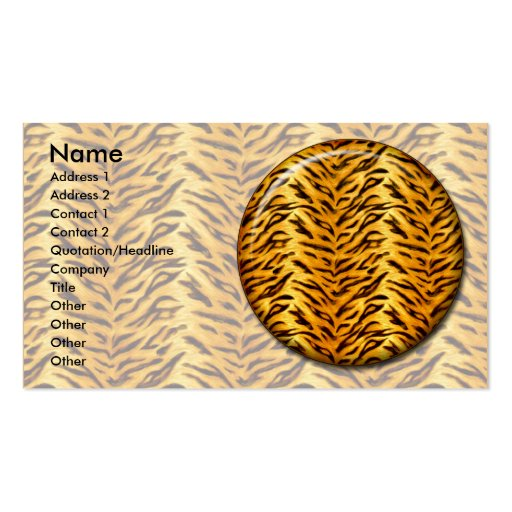 Just Tiger Double-Sided Standard Business Cards (Pack Of 100)