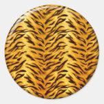 Just Tiger Classic Round Sticker