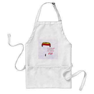 Just to know how it feels to fly adult apron