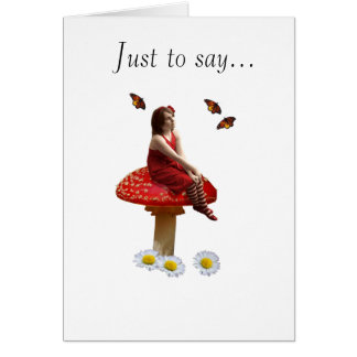 Just to say... card
