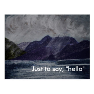 "Just to say, ""hello"" postcard"