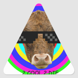 Just too cool triangle sticker