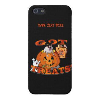 Just Too Cute Bulldog, Peeking Out of Pumpkin iPhone SE/5/5s Cover