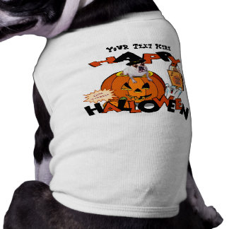 Just Too Cute Bulldog, Peeking Out of Pumpkin Shirt