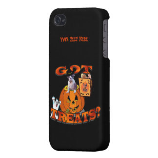 Just Too Cute Bulldog Puppy Peeking Out of Pumpkin Cover For iPhone 4