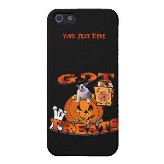 Just Too Cute Bulldog Puppy Peeking Out of Pumpkin iPhone SE/5/5s Case