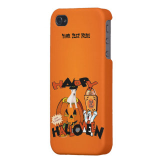 Just Too Cute Jack Russell Peeking Out of Pumpkin iPhone 4/4S Cover
