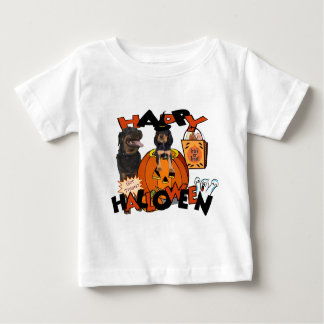 Just Too Cute Rottweiler Puppy Accompanied by Papa Baby T-Shirt