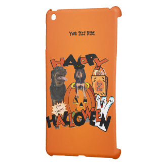 Just Too Cute Rottweiler Puppy Accompanied by Papa iPad Mini Cases