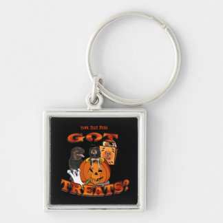 Just Too Cute Rottweiler Puppy Accompanied by Papa Keychain
