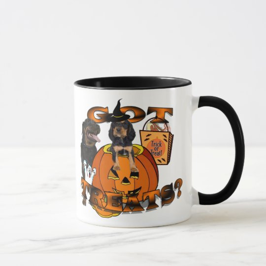 Just Too Cute Rottweiler Puppy Accompanied by Papa Mug