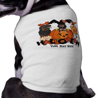 Just Too Cute Rottweiler Puppy Accompanied by Papa T-Shirt