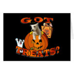 Just Too Cute Westie Puppy, Peeking Out of Pumpkin Greeting Cards