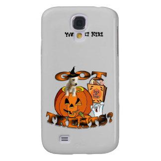 Just Too Cute Westie Puppy, Peeking Out of Pumpkin Galaxy S4 Case