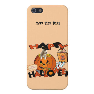 Just Too Cute Westie Puppy, Peeking Out of Pumpkin iPhone SE/5/5s Cover