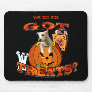 Just Too Cute Westie Puppy, Peeking Out of Pumpkin Mouse Pad