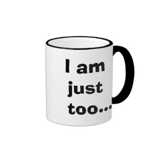 Just Too Taxy! - Cheeky Tax Advisor Quote Ringer Mug