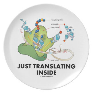 Just Translating Inside (Protein Synthesis) Melamine Plate
