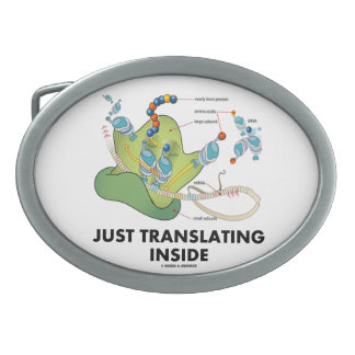 Just Translating Inside (Protein Synthesis) Oval Belt Buckle