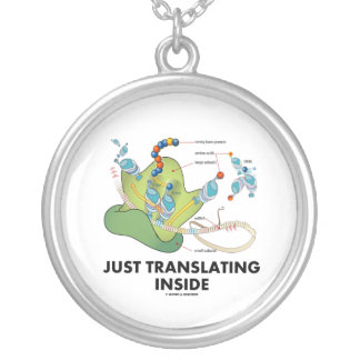 Just Translating Inside (Protein Synthesis) Round Pendant Necklace
