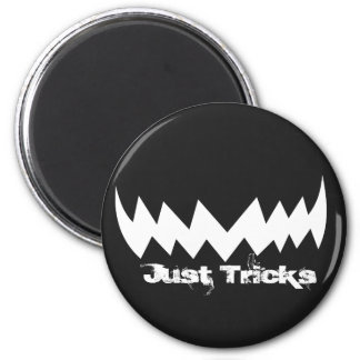 Just Tricks Evil Smile Halloween Magnet