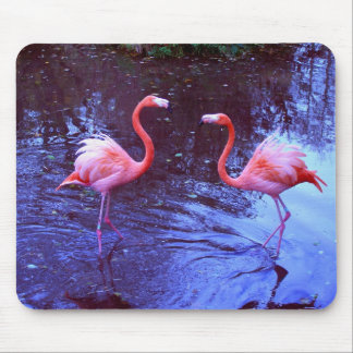 Just two flamingos mouse pad