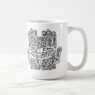 just two hands on a mug
