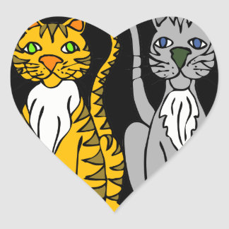 Just Two Innocent Cats... Heart Sticker