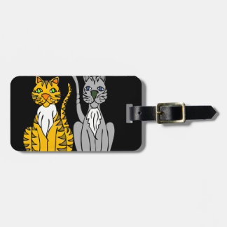 Just Two Innocent Cats... Travel Bag Tag
