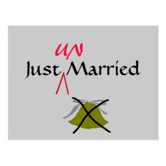Just UN-Married - postcard