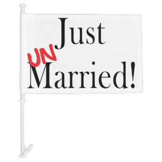 Just Unmarried Car Flag