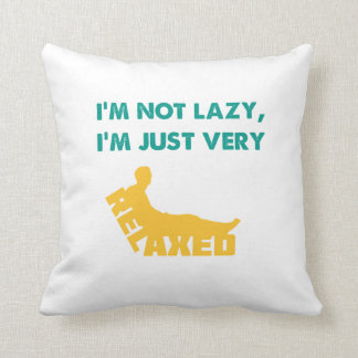 Just very Relaxed Throw Pillow