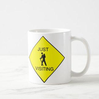 Just Visiting Sign Coffee Mug