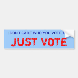 JUST VOTE bumper sticker