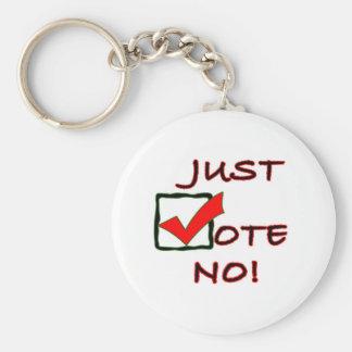 Just Vote No! political slogan Basic Round Button Keychain