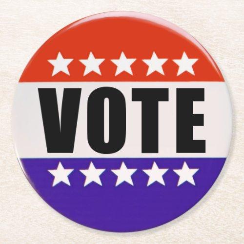 Just Vote Round Coasters
