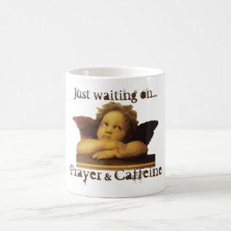 Just waiting on...Prayer & Caffeine - Cherub Mug