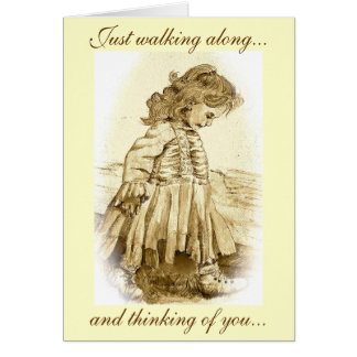 Just walking along, and thinking of you card