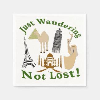 Just Wandering Not Lost Design Paper Napkin