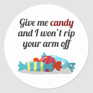 Just Want Candy Halloween Design Classic Round Sticker