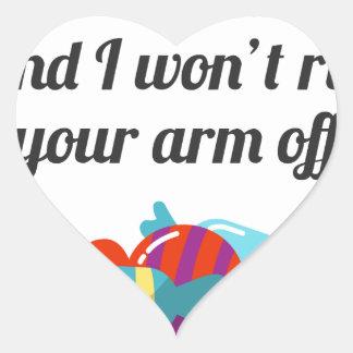 Just Want Candy Halloween Design Heart Sticker