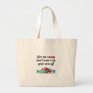 Just Want Candy Halloween Design Large Tote Bag