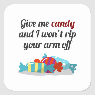 Just Want Candy Halloween Design Square Sticker