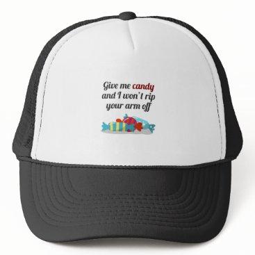 Halloween Themed Just Want Candy Halloween Design Trucker Hat