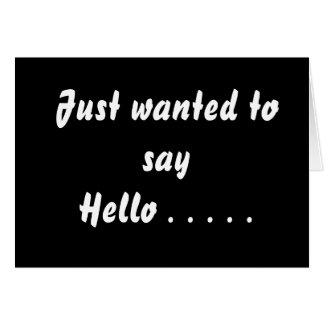 Just say hi dating