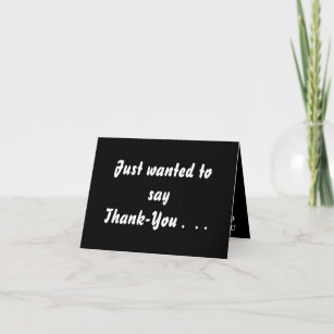 words for a thank you card