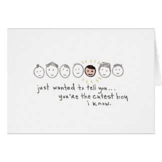 Just wanted to tell you... greeting card