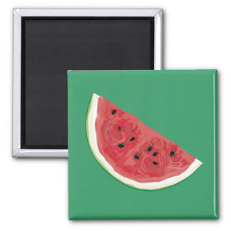 Just Watermelon 2 Inch Square Magnet