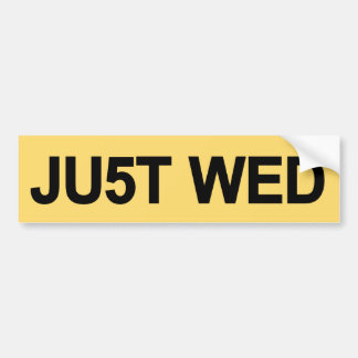 Just Wed - William & Kate Royal Wedding Bumper Sticker